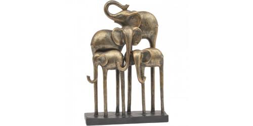 Bronze Group Of Elephants