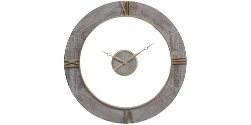 Floating Grey Wall Clock