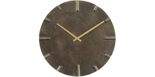 Aluminium & Slate Effect Wall Clock