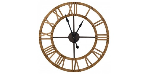 Roman Numeral Wooden Wall Clock
