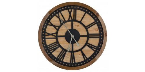Wooden & Metal Wall Clock