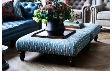Leather/Fabric Artisan Footstool
