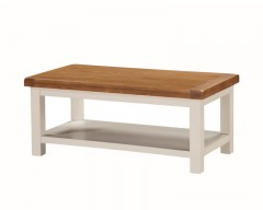 Henley Painted Oak Large Coffee Table with Shelf