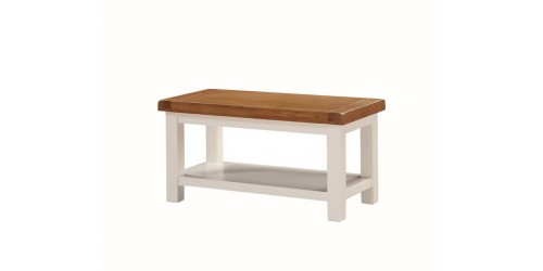 Henley Small Coffee Table with Shelf in Painted Oak