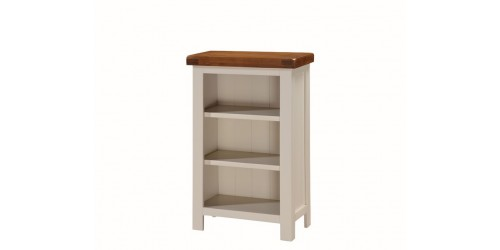Henley Painted Oak Low Slim Bookcase