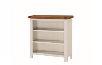 Henley Low Wide Bookcase in Painted Oak
