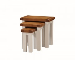 Henley Nest of Tables in Painted Oak