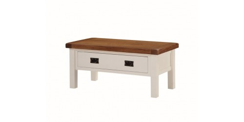 Henley Small Coffee Table with Drawers in Painted Oak
