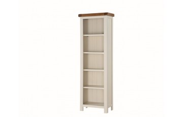 Henley Tall Slim Bookcase in Painted Oak