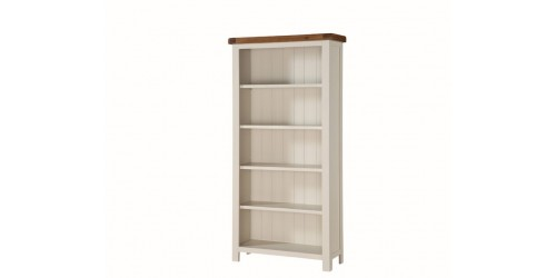 Henley Painted Oak Tall Wide Bookcase