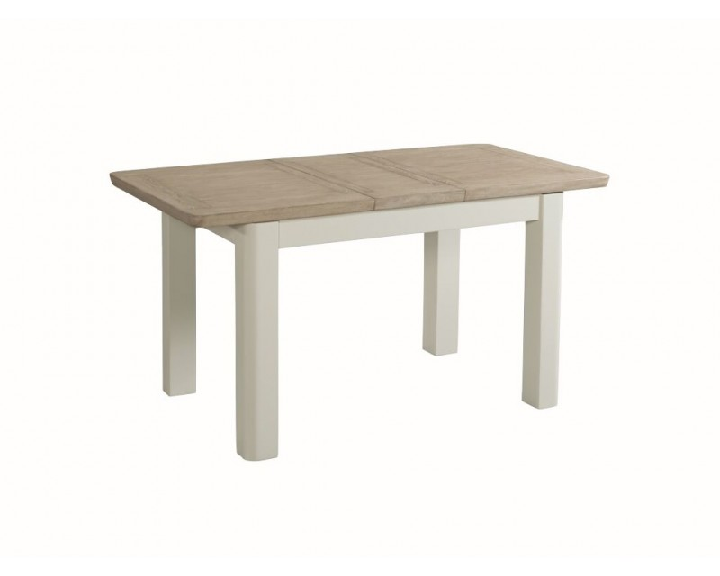 Tamworth Painted Solid Oak / Oak Veneer 4' extension dining table (Extended)