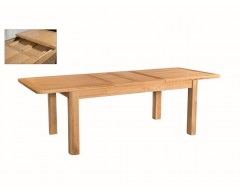 Tamworth Solid Oak / Oak Veneer 6' extension dining table (Extended)