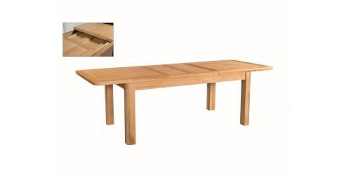 Tamworth Solid Oak / Oak Veneer 6' extension dining table (Extended)