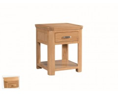 Tamworth Solid Oak / Oak Veneer End Table With Drawer