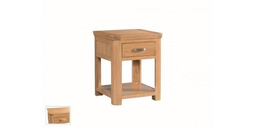 Tamworth Solid Oak / Oak Veneer End Table With Drawer
