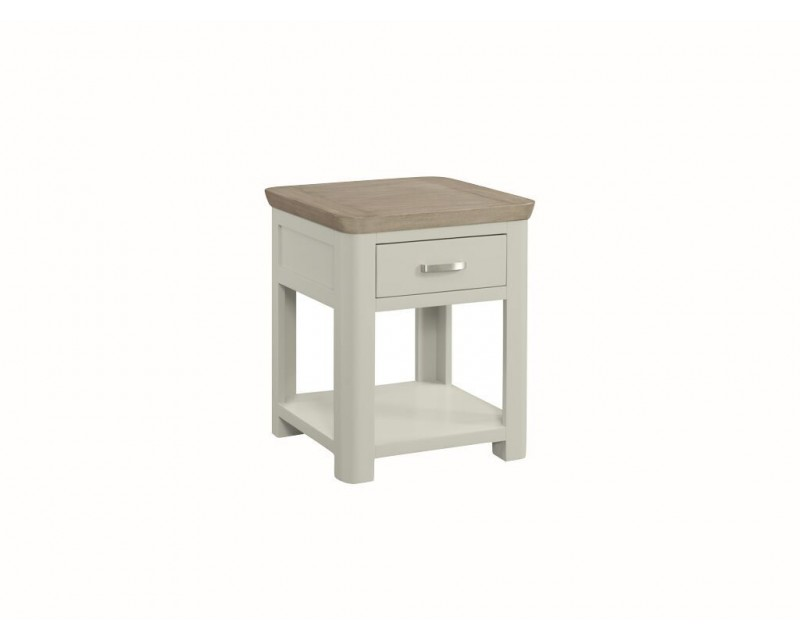 Tamworth Painted Solid Oak / Oak Veneer End Table With Drawer