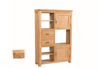 Tamworth Solid Oak / Oak Veneer High Display Unit