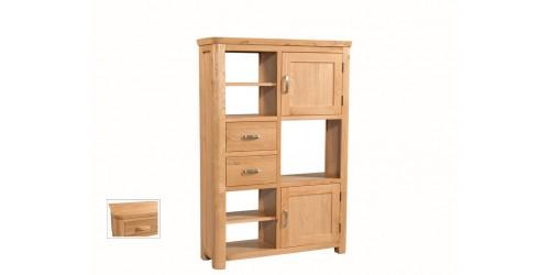 Tamworth Solid Oak / Oak Veneer High Display Unit