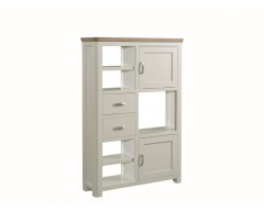Tamworth Painted Solid Oak / Oak Veneer High Display Unit