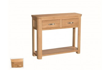Tamworth Solid Oak / Oak Veneer Large Console