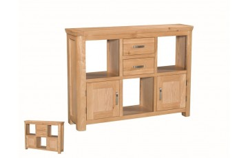 Tamworth Solid Oak / Oak Veneer Low Display Unit