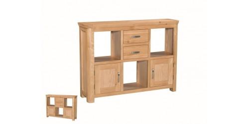 Tamworth Solid Oak / Oak Veneer Low Display Unit