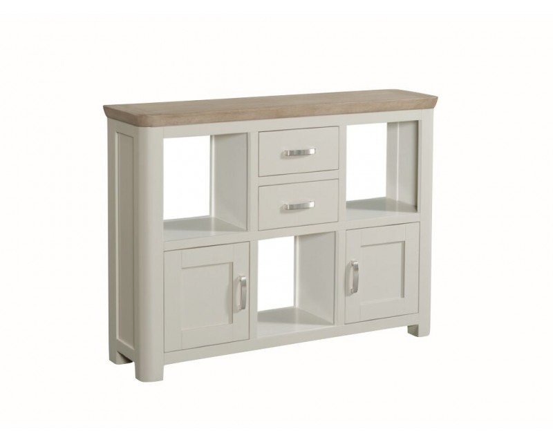 Tamworth Painted Solid Oak / Oak Veneer Low Display Unit