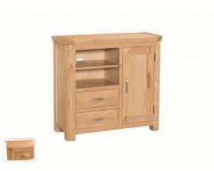 Tamworth Solid Oak / Oak Veneer Media Unit