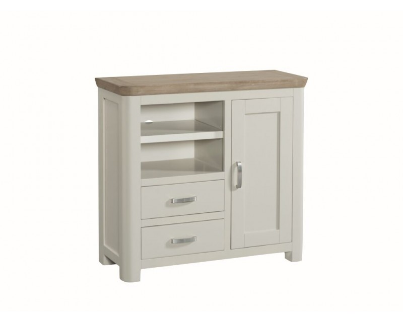 Tamworth Painted Solid Oak / Oak Veneer Media Unit