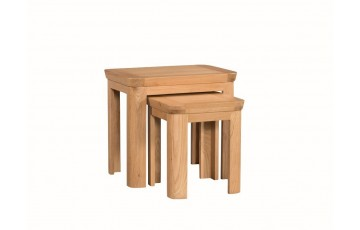 Tamworth Solid Oak / Oak Veneer Nest of 2 Tables
