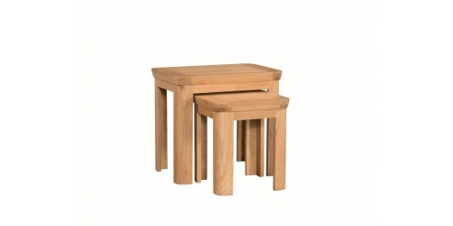 Tamworth Solid Oak / Oak Veneer Nest of 2 Tables