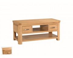 Tamworth Solid Oak / Oak Veneer Standard Coffee Table with Drawer