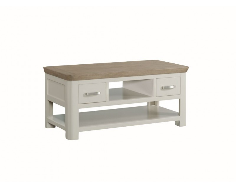 Tamworth Painted Solid Oak / Oak Veneer Standard Coffee Table with Drawer