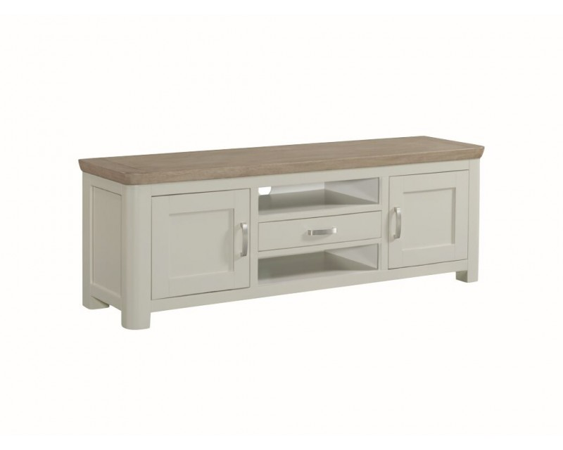 Tamworth Painted Solid Oak / Oak Veneer Wide TV Unit