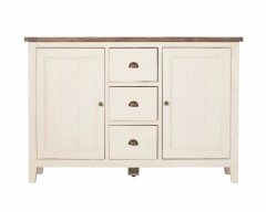 Canterbury Painted White 2 Door Wide Sideboard - Solid Reclaimed Wood