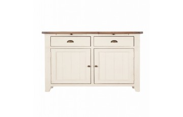 Canterbury Painted White 2 Door Narrow Sideboard - Solid Reclaimed Wood