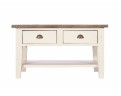 Canterbury Painted White Coffee Table - Solid Reclaimed Wood
