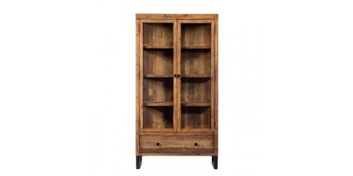 Nassau Display Cabinet in Reclaimed Wood