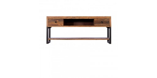 Nassau Large TV Unit in Solid Reclaimed Wood