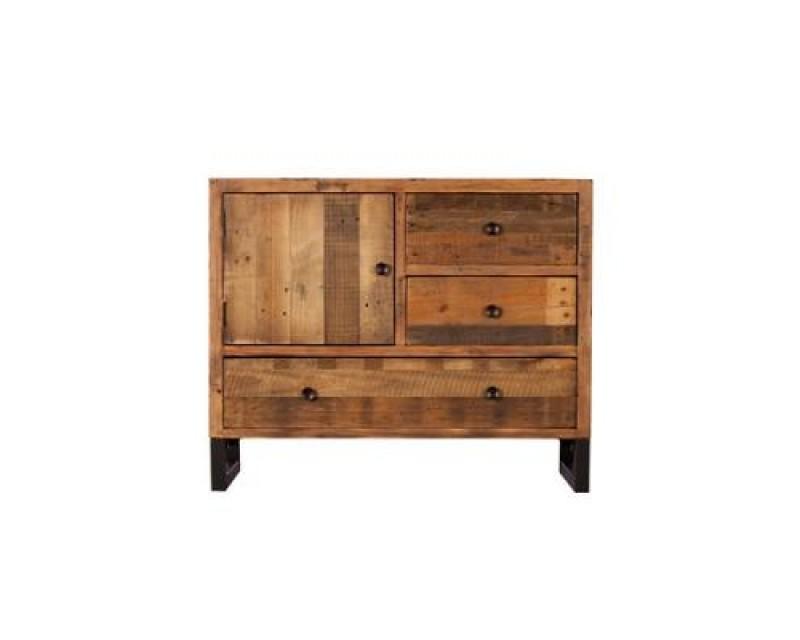 Nassau Narrow Sideboard in Solid Reclaimed Wood