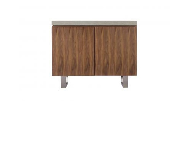 Paris Steel / Wooden Narrow Sideboard