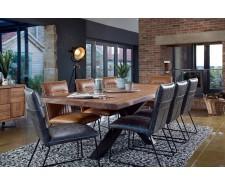 Saka Oak 2m Dining Table with Steel Base