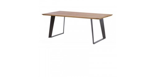 Salcombe 2.2m Oak Dining Table with Steel Base