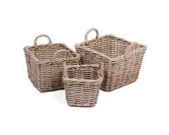 Wicker 3 Square Baskets
