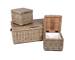 Wicker 3 Rectangular Trunks