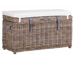 Wicker Rectangular Trunk Bench