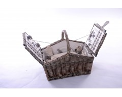 Wicker 4 Person Lidded Hamper