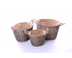 Wicker Log Baskets