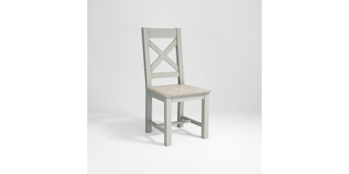 Montreal Cross Back Chair Wood Seat
