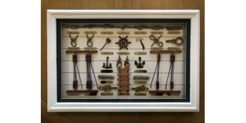 Framed Navy Knots - CLEARANCE